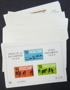 EDW1949SELL : MEXICO 7 Different 1968 Olympics S/s. 9 of each. VF MNH. Cat