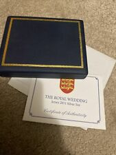 More details for jersey 2011 5 ounce sterling silver £10 proof coin william & catherine