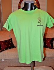 Flouescent Green Authentic Browning  hunting Pro Gun Women T shirt Mulit Sizes