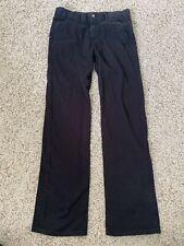 Preowned Boys Champs Black Straight Leg Pants / Uniform Pants, Size 16 Regular