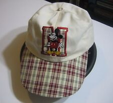 Mickey Mouse Hat Disney Baseball Cap With Plaid Brim And Trim Mickey And Company