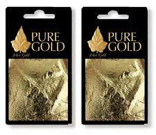 200 sheets 7cm  x 7cm 100% Pure 24k Gold Leaf on base arts  Crafts gilding ect