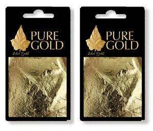 200 sheets  100% Pure 24k Gold Leaf on base arts  Crafts gilding ect