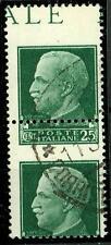 """ITALIA - Regno - 1929 - Serie """"Imperiale"""" - 25 cent. - Var. - Dent. fort. spost."""