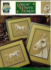 Great White Horse Cross Stitch PATTERN Equestrian Show Champion Breed Work