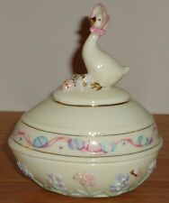 Lenox Easter 2003 Egg w/Springtime Goose Figure Trinket Box w/Lid