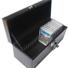20 Graded Certified NGC/PCGS/Premier/Elite Coin Slab Aluminum Storage Box Case