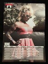IN THIS MOMENT SIGNED METAL HAMMER CALENDAR AUTOGRAPH POSTER MARIA BRINK RARE