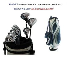 AGXGOLF PETITE LADIES MAG-ZXL COMPLETE GOLF SET w/DRIVER+HYBRID+IRONS+BAG+PUTTER