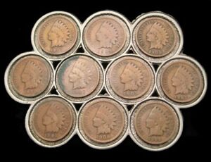 QJ02106 VINTAGE **10 USA INDIAN HEAD PENNYS** REAL US COINS WESTERN BUCKLE