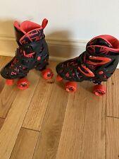 Brand New Roller Derby Skates Black Red  Shoe Size 3-6