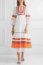 For Sale Cheap Price Cheap Sale Buy Tory Burch Woman Annalise Lace-trimmed Embroidered Cotton-voile Midi Dress White Size 0 Tory Burch Cheap Sale Discount Purchase For Sale Free Shipping Clearance Store Jf4RW6JzF