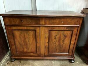 xG34024 Vintage French Style Flame Mahogany Sideboard Cupboard