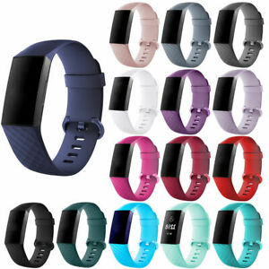 For Fitbit Charge 3 Watch Band Replacement Silicone Diamond Bracelet Wrist Strap