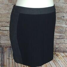 NEXT Skirt Short Black Grey Smart Size 14R Lined Office Workwear