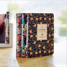 """Flowery Planner"" 1pc Planner Agenda Scheduler Hard Cover Notebook Free Note"