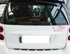 Cute Hello Kitty with Bear and Pink Flowers Car Decal Car Sticker - 1pc