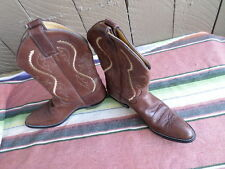 Women's Justin L4937 Coffee Saltillo Western Cowboy Boots 8 B EUC  (f067)