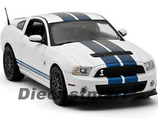 2013 FORD SHELBY GT500 SVT COBRA WHITE W/BLUE 1:18 BY SHELBY COLLECTIBLES SC394