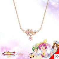 Clue X Wedding Peach Beautiful Flower Peach Blossoms Silver Necklace Authentic