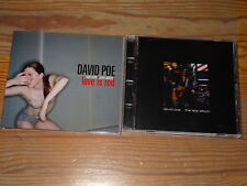 DAVID POE - LOVE IS RED & THE LATE ALBUM / 2 VERSCHIEDENE ALBUM-CD'S