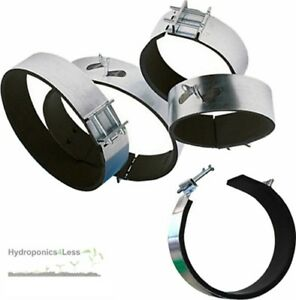 Ducting Hydroponic Fan Carbon Filter Padded Fast Clamp 4 5 6 8 10 & 12 Inch