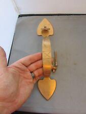 Large Brass Door Handle w/ Thumb Latch Solid Heavy Spade Heart Shaped
