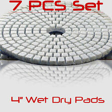 Diamond Polishing Pads 4 Inch Wet Dry Set For Granite Concrete Marble Polishing