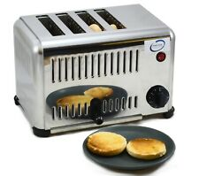 More details for chef-hub heavy duty commercial toaster 4 & 6 slot available with timer and lift