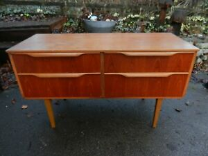 VINTAGE/RETRO SMALL SIDEBOARD/DRAWERS - FOR RENOVATION