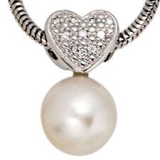 Echtschmuck-Halsketten & -Anhänger mit Herz-Perlen für Damen