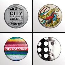 City and Colour - 4 chapas, pin, badge, button