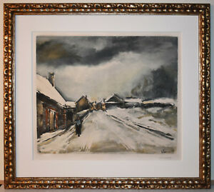 Listed French Artist, Maurice De Vlaminck Signed Nmbered Original Color Print