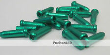6 X Inner Gear/Brake Bike Cable Wire Ends/Crimps/Tidy/Ferrule/Cap/ Cover Green