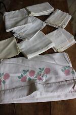 Lot d'anciens draps en lin - Torchons ou draps - Morceaux de tissus