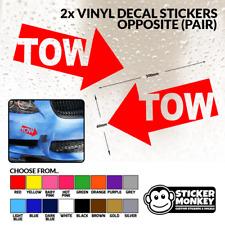 2x TOW OPPOSITE(PAIR) Rally Motorsport JDM Racing Bumper Car Vinyl Decal Sticker