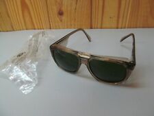 Vintage NOS Crews Safety Glasses Engineer Side Shields Green Tinted (Type 1)
