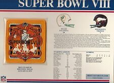1974 SUPER BOWL VIII SB 8 PATCH MIAMI DOLPHINS MINNESOTA VIKINGS WILLABEE WARD