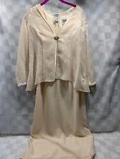R&M Richards Blazer & Dress 2 Piece Ivory Womens Size 10P