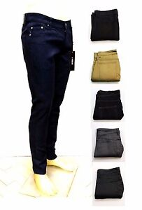 Kayden K Men's Skinny Fit Stretch Jeans Raw Denim Pants SK101