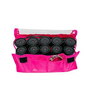 Revlon Tourmaline Ionic Heat Hot Rollers Curlers On The Go Travel W/ 5 Clips