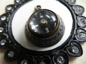 Vtg Sterling UNIQUE Working Compass Charm Fancy Base Signed CINI