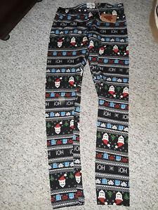 NEW  NWT  Christmas leggings  sz M/L  SOFT!!