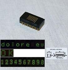 6 x Matrix LED green mini display Indicator 3LS363A Rare USSR