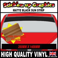 8IN SPECIAL OFFER PLAIN MATT BLACK SUN STRIP CAR DECALS GRAPHICS SQUEEGEE GIFT