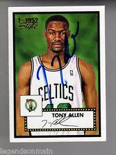 Tony Allen Memphis Grizzlies,Celtics 2006 Topps 1952 StyleAutograph Card