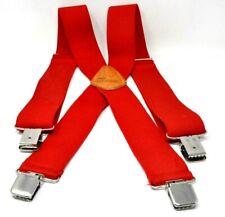 """Berne Mens 2""""  Wide Industrial Red Suspenders Suspenders"""