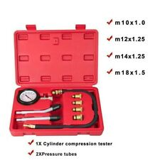 UK Petrol Engine Compression Tester Kit Set For Automotive Motorcycle Dual Use