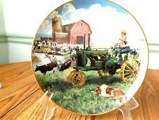 "Danbury Mint Farmland Memories "" Days of Splendor"" John Deere Tractor Plate"