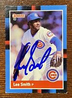 LEE SMITH Signed 1988 Donruss Card #292 Autograph CHICAGO CUBS HOF 2019